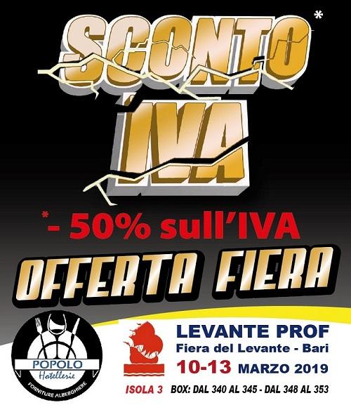 OFFERTA FIERA – 50% sull'IVA!